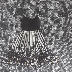 NWT FOREVER 21 BLACK/CREAM MINI DRESS WOMEN
